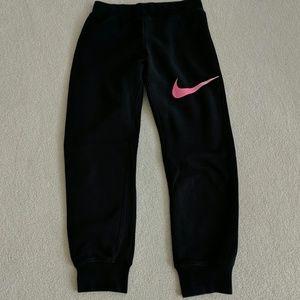 Nike Black/Pink Sweatpants Youth Large